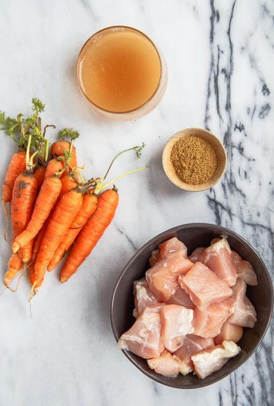 پوره مرغ و هویج
