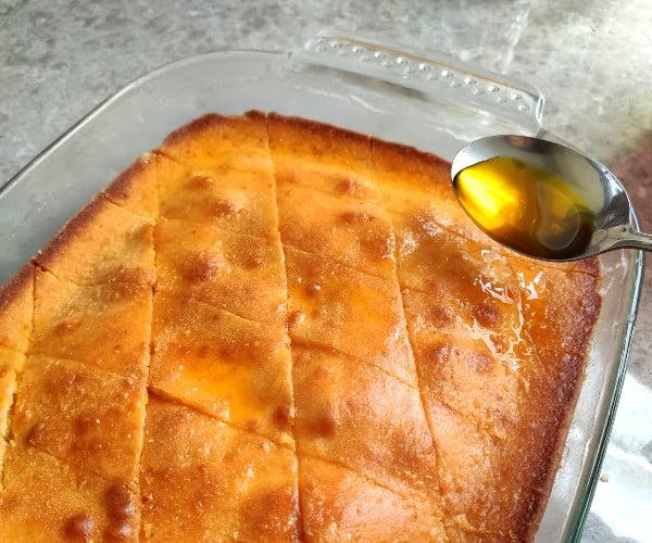 شربت کیک باقلوا