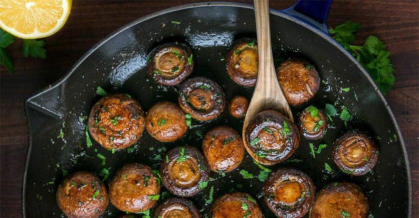 بهترین روش پخت قارچ و نگهداری آن در فریزر