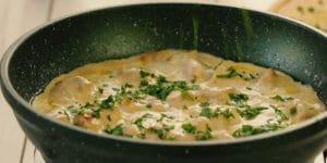 خوراک مرغ خامه بادامی