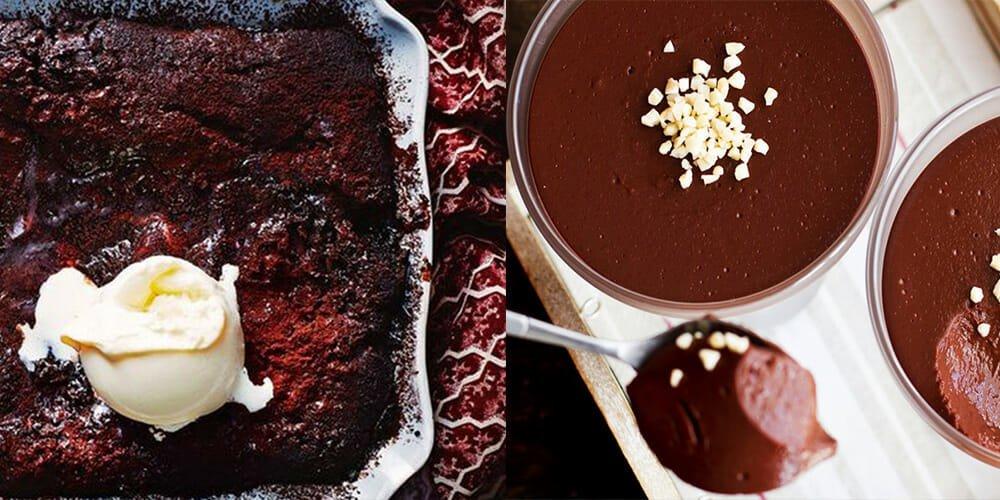طرز تهیه دسر پودینگ شکلاتی به دو روش