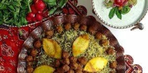 طرز تهیه پلو شیرازی اصل و سنتی با لوبیا چشمبلبلی