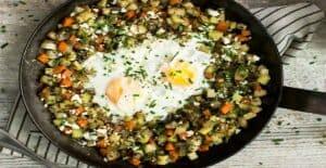 خوراک شلغم و تخممرغ