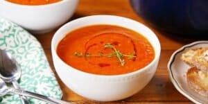 طرز تهیه سوپ گوجه فرنگی زمستانی