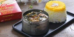 خورش کرفس با پنیر کبابی