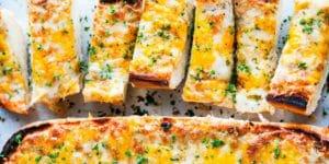 طرز تهیه نان سیر پنیری