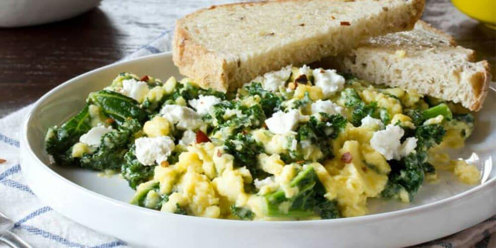 تست تخم مرغ و سبزیجات