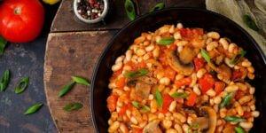 طرز تهیه خوراک لوبیا سفید خوشمزه برای گیاهخواران