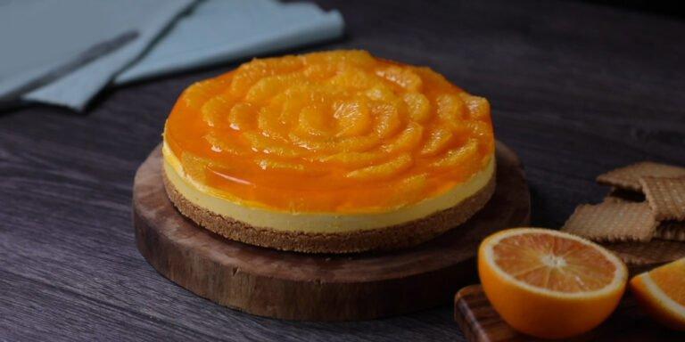 طرز تهیه چیزکیک پرتقال همراه ویدیو