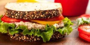 طرز تهیه ساندویچ تن ماهی با پنیر پارمسان ؛ یک غذای سفری