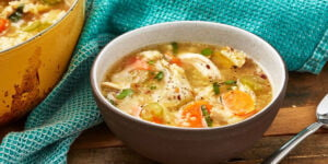 سوپ مرغ کتو