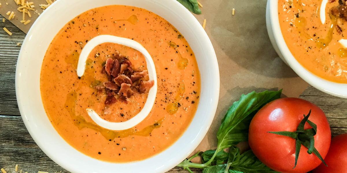 سوپ گوجه فرنگی خوشمزه