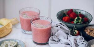 شیک پروتئینی موز و توتفرنگی مخصوص دیابتیها
