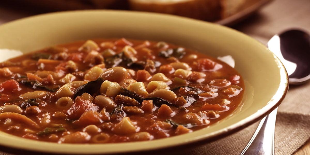 سوپ لوبیا ایتالیایی
