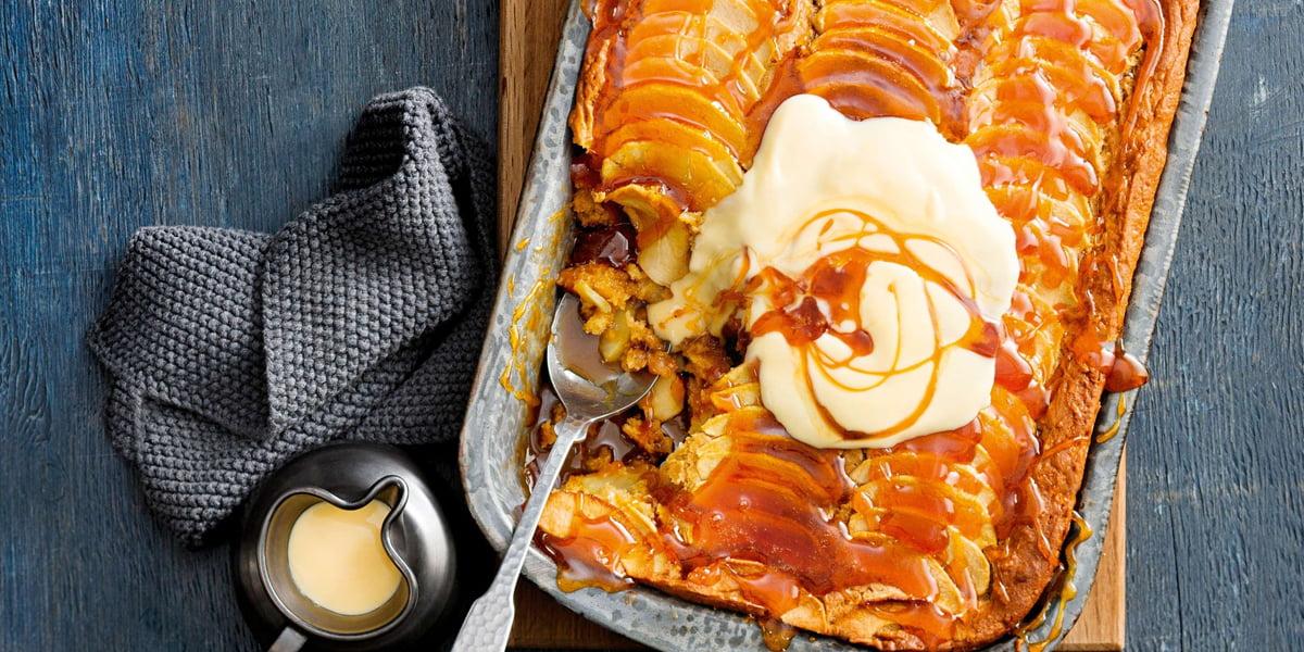طرز تهیه پودینگ سیب