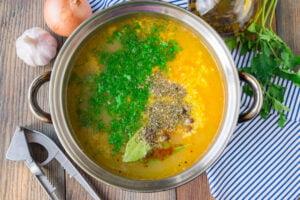 طرز تهیه سوپ جو پرک با مرغ