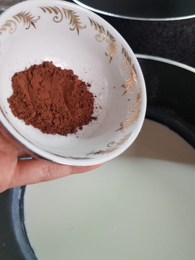 فرنی شکلاتی