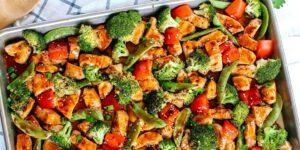 طرز تهیه خوراک مرغ و سبزیجات