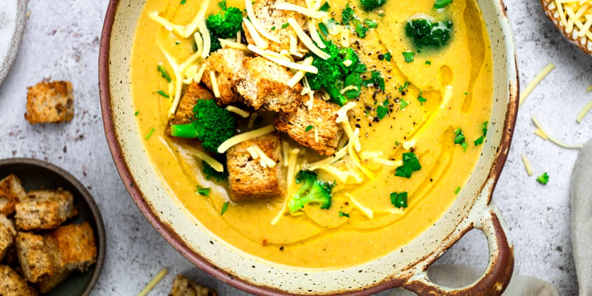 طرز تهیه سوپ کلم بروکلی گیاهی