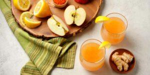طرز تهیه آب سیب و زنجبیل