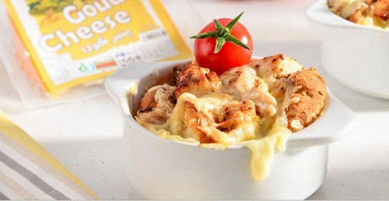استراتای مرغ و پنیر