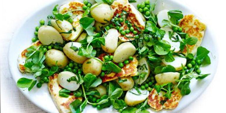 سالاد نخود فرنگی و پنیر کبابی