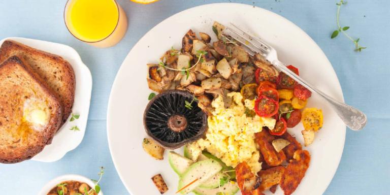 طرز تهیه صبحانه انگلیسی برای گیاهخوارها