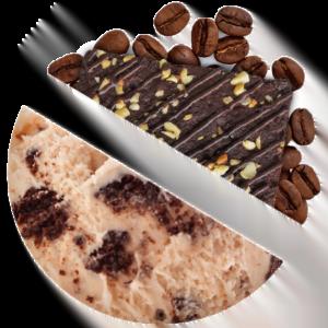 Coffee with Brownie Cake ice cream