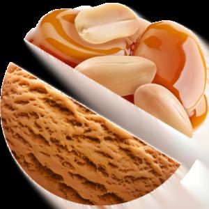 Caramel with Peanut ice cream
